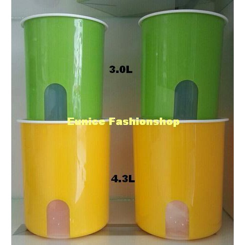 Tupperware One Touch Window Canister Set (4)