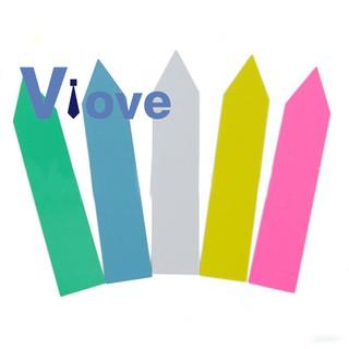 500 Pcs 5 Colors 2X10CM Plastic Waterproof Garden Plant Tags