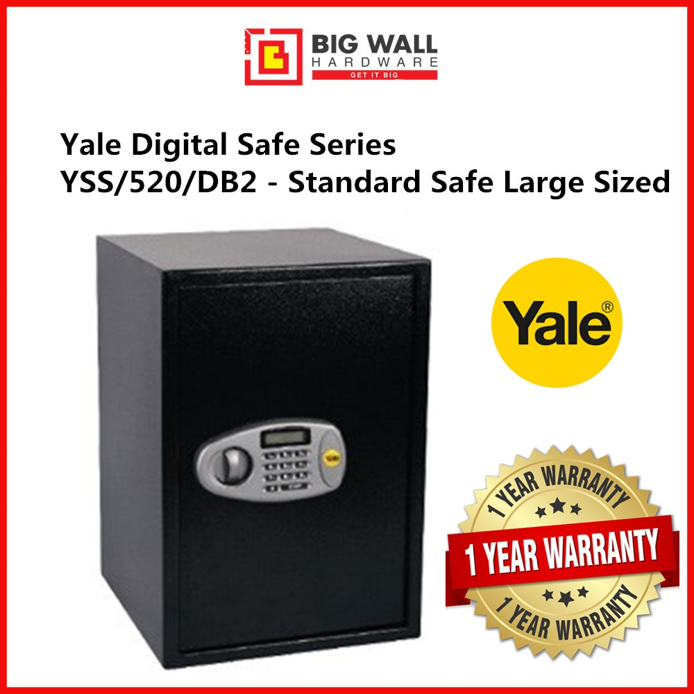 Yale Digital Safe Series YSS/520/DB2 - Standard Safe Large Sized Safety Box Peti keselamatan 保险箱
