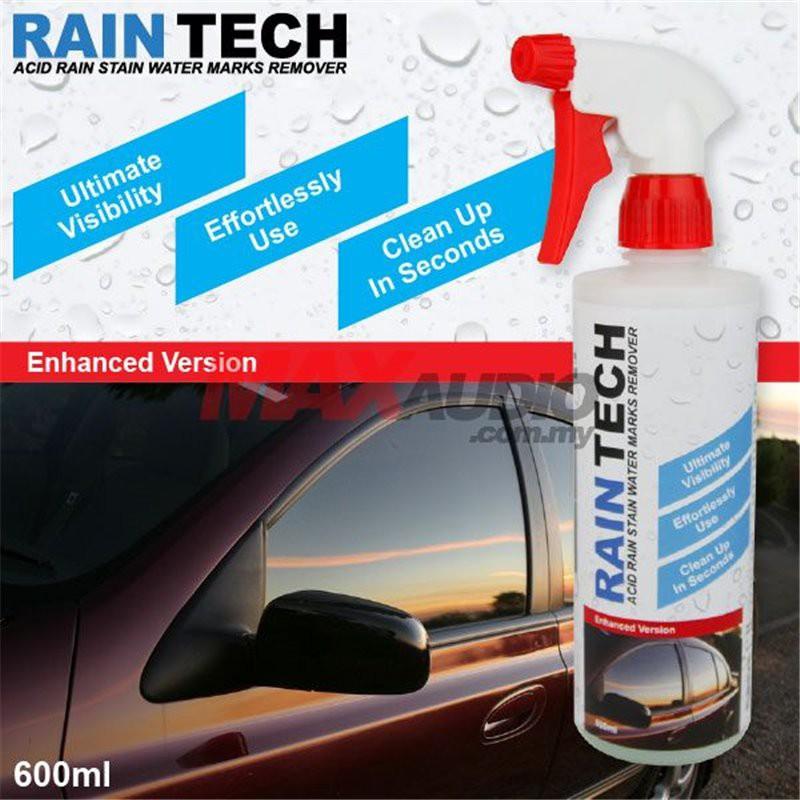 [FREE Gift] RAIN-TECH [Side Window & Rear Windscreen] Easy Spray Acid Rain Stain Water Marks Remover Car Cleaner (600ml)