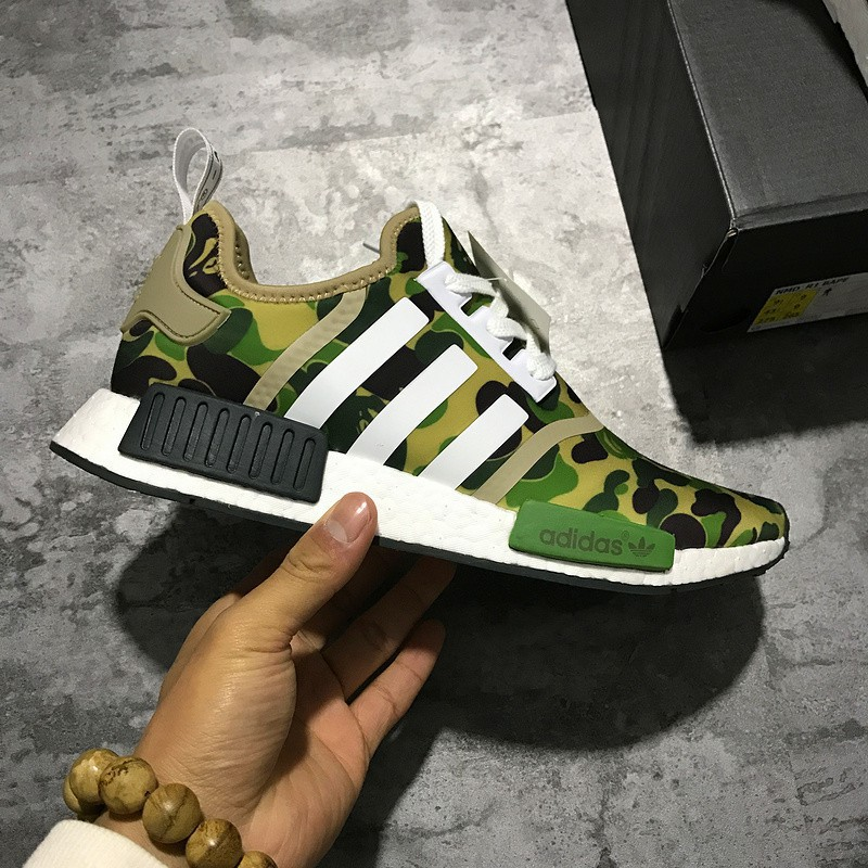 5d3c897172c25 Adidas NMD Bape x BA7326 mens womens running shoes sneakers ready stock