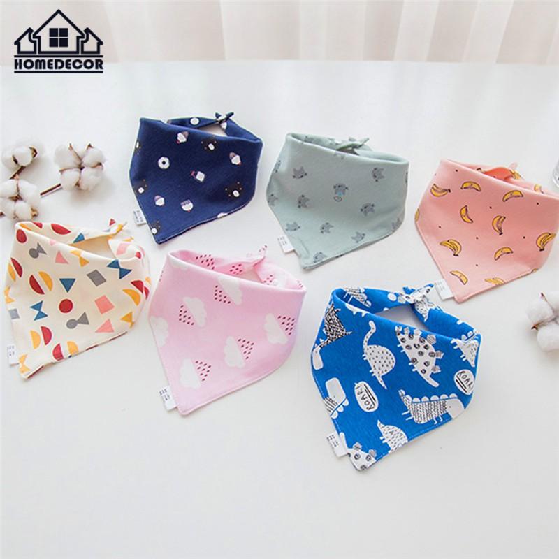 Cotton Infant Baby Bibs Feeding Saliva Towel Triangle Cute Scarf FG