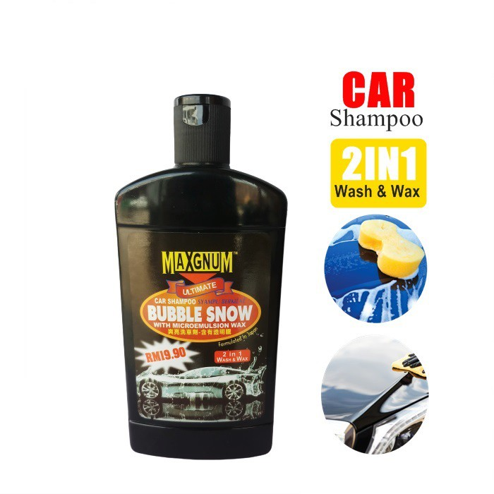 Bubbles Strong Penetration Car Shampoo Wash and Wax / Auto Uv Protectant