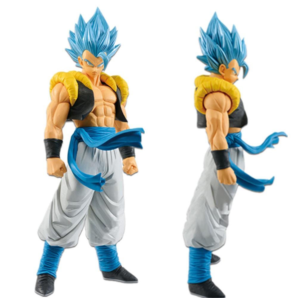 Anime Dragon Ball Z Blue Hair Gogeta ROS PVC Action Figure Statue Toy Gift NOBOX