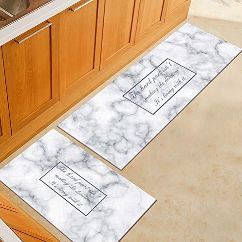 Carpet Kitchen Mat Door Mat Vat04 Kitchen Mat White Marble Floor Runner Shopee Malaysia