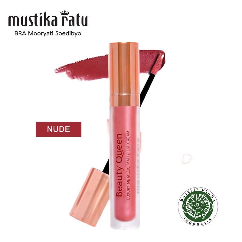 Mustika Ratu Beauty Queen Luxury Metallic Matte Lip Cream - Nude
