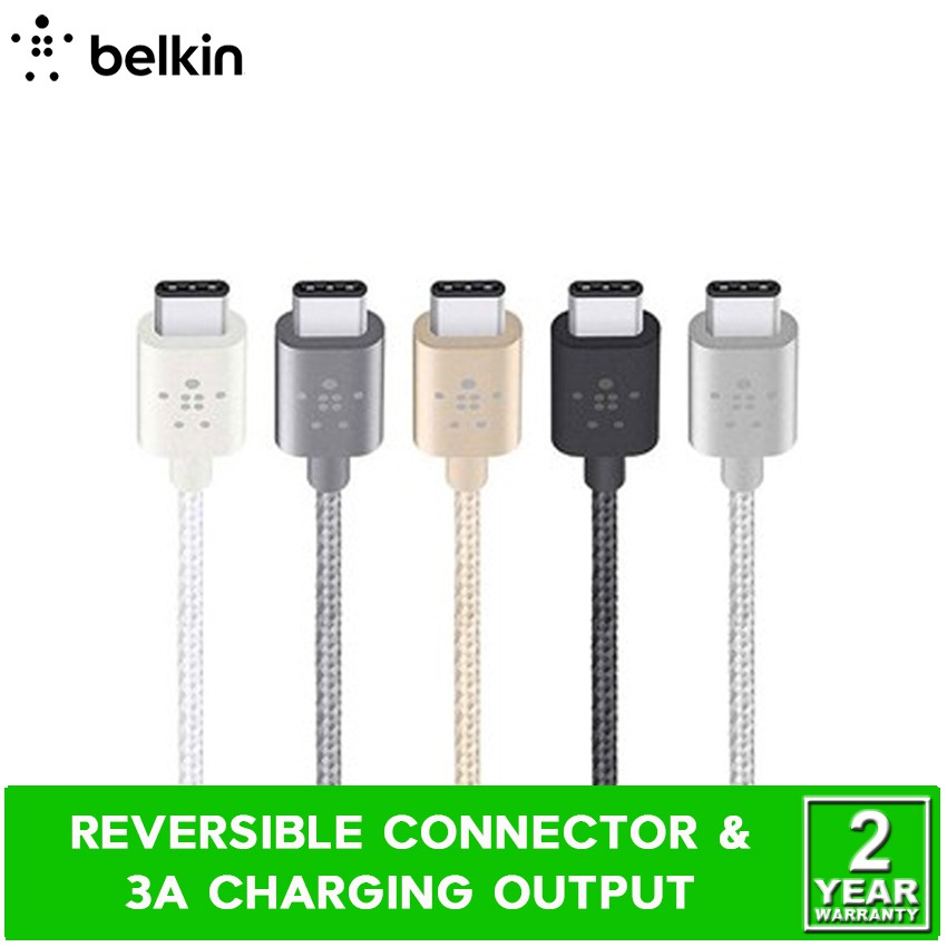 Belkin F2CU041bt06 MIXIT Metallic USB Type-C to USB Type-C 3A Charge Cable  1 8M