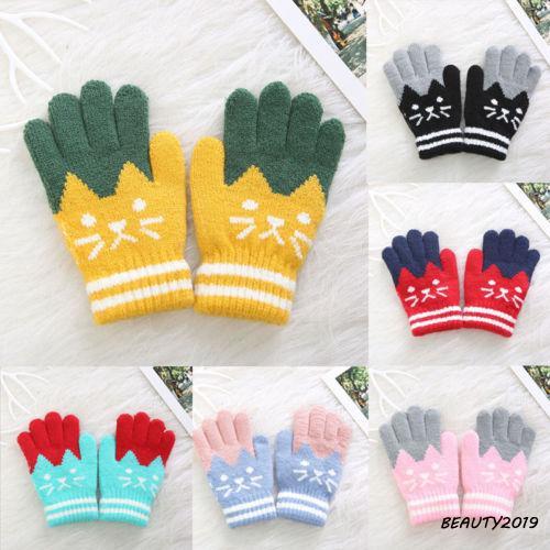 Unisex Magic Stripe Mittens For Little Hands Winter Warm Gloves by Handy Glove