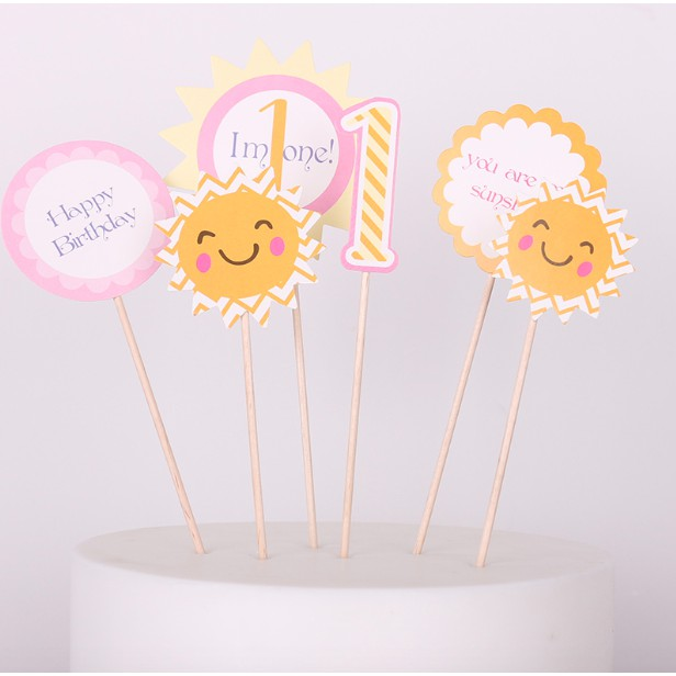 Super Ready Stock Baby 1 Year Old Birthday Cake Cupcake Topper 6Pcs Personalised Birthday Cards Paralily Jamesorg
