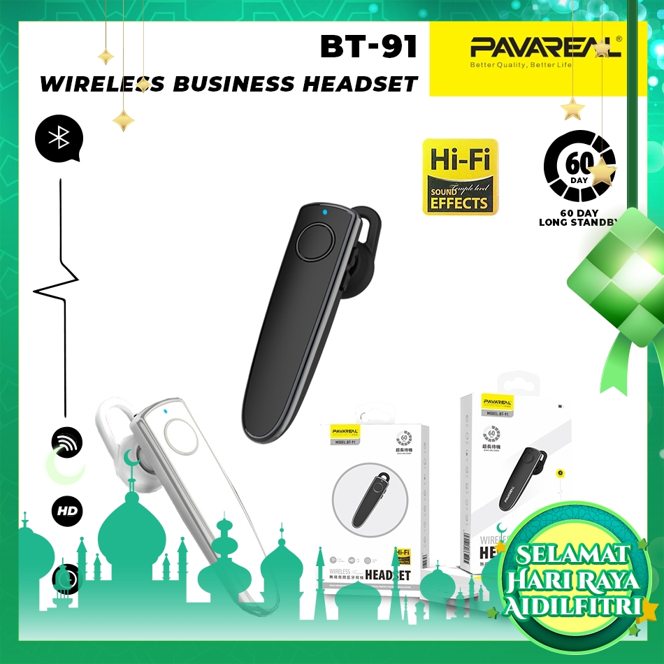 PAVAREAL PA-BT91 True Wireless Business Headset V5.0 Bluetooth Earbuds 60 days Standby Stereo HD Call Music Play