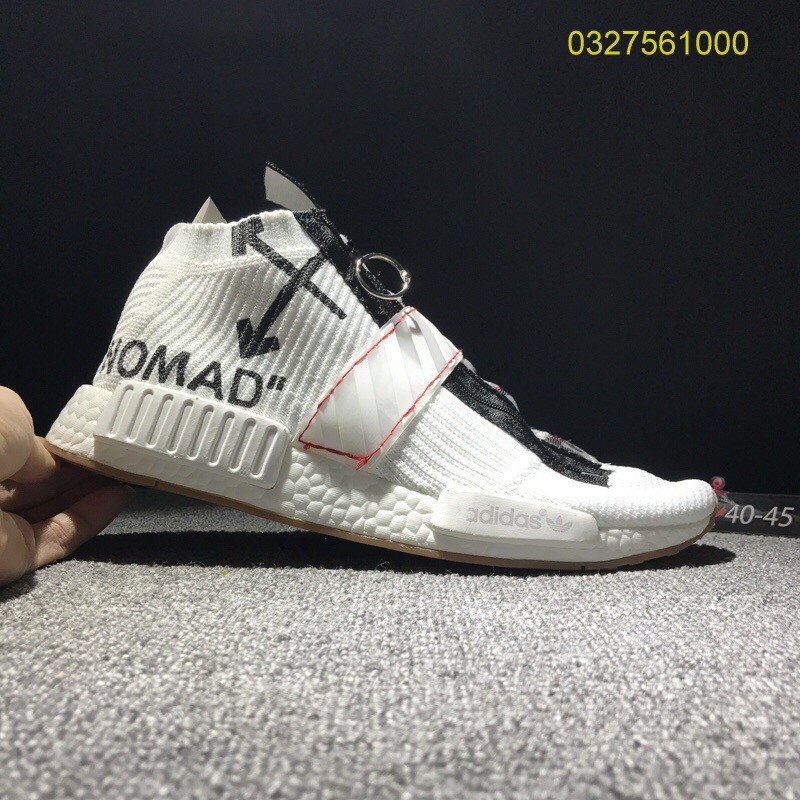 Ready Stock authentic Off White x adidas NMD Boost Men's Sports Running Shoes
