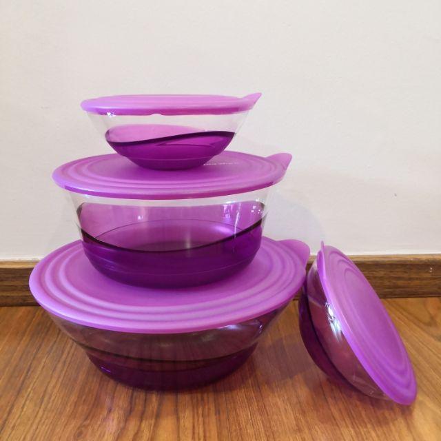 Tupperware Purple Eleganzia Bowl set of 4