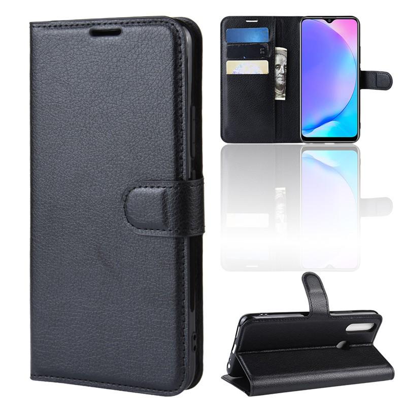 Silicone TPU VIVO Y17 Case Phone Soft Case PU Leather Litchi VIVO V17 Y 17  VIVOY17 Back Cover