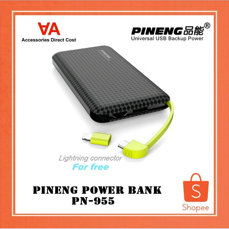 PINENG POWER BANK PN-955 (BLACK COLOUR)