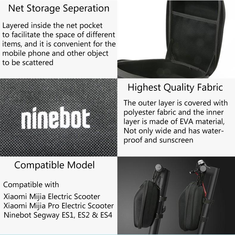 Original Ninebot By Segway Front Mounting Storage Bag