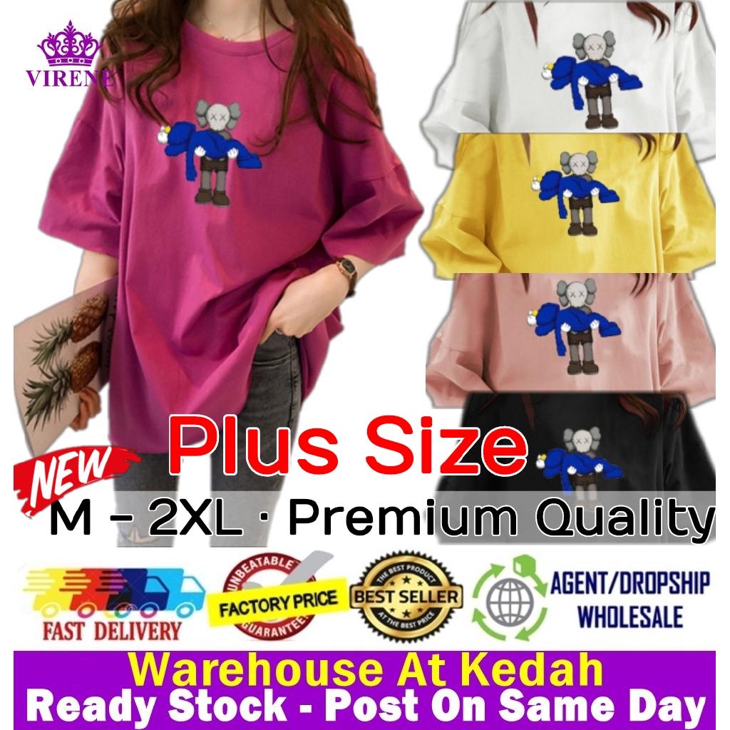 Plus Size Kaws T Shirt Ready Stock Korean Women Casual Loose Tops Baju Corak Kaws Pemborong Baju Kaws 211662 Shopee Malaysia