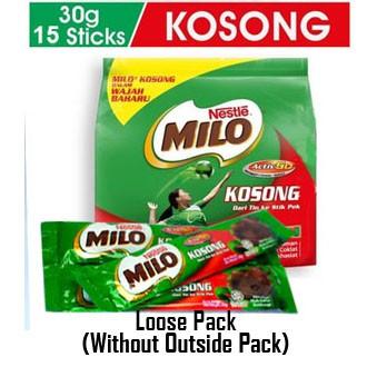 NESTLE MILO KOSONG ACTIV-GO 15 /18 Sticks 30g Loose Pack exp 5/2022