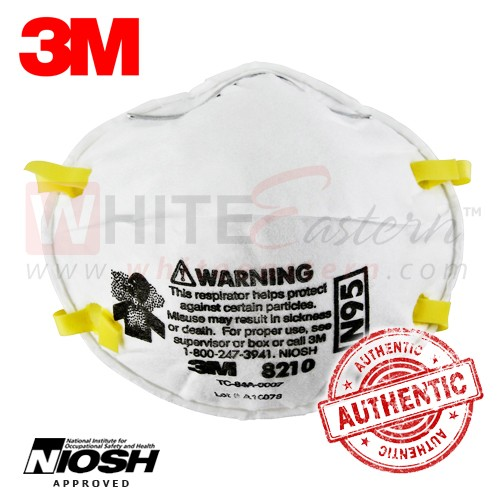 Respirator Mask Particulate 8210 Pieces 3m N95 10