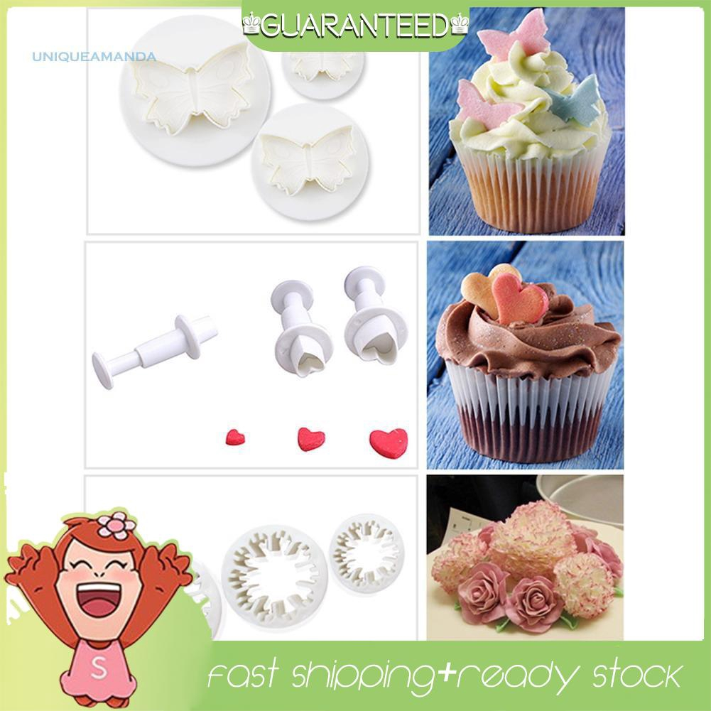 Sugarcraft Cookies Cake Decorating Fondant Plunger Cutters Tools Mold CF