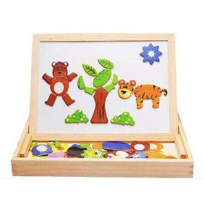 Magnetic Wooden Animal Drawing Board