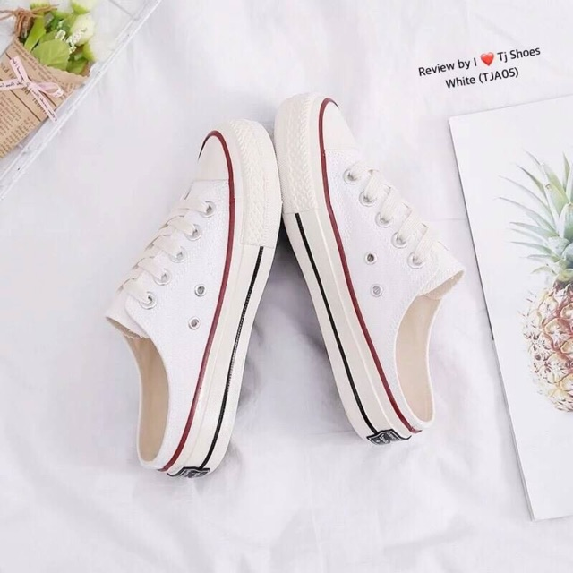 TJA05 รองเท้าผ้าใบเพื่อสุขภาพ ใส่นิ่มสบาย เดินชิวๆ ทรงสวย สวมใส