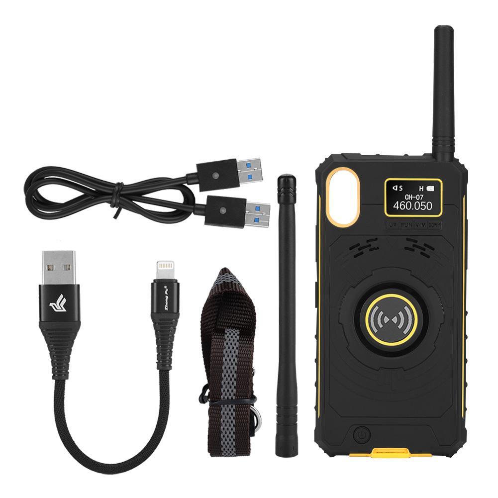 Walkie Talkie UHF Two Way Radio Phone Case Cover Ham for iPhone X Long  Range USB