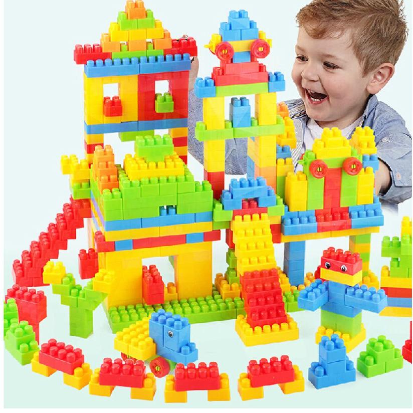 144pcs Colorful Plastic Building Children Puzzle Educational Toy Gift ES