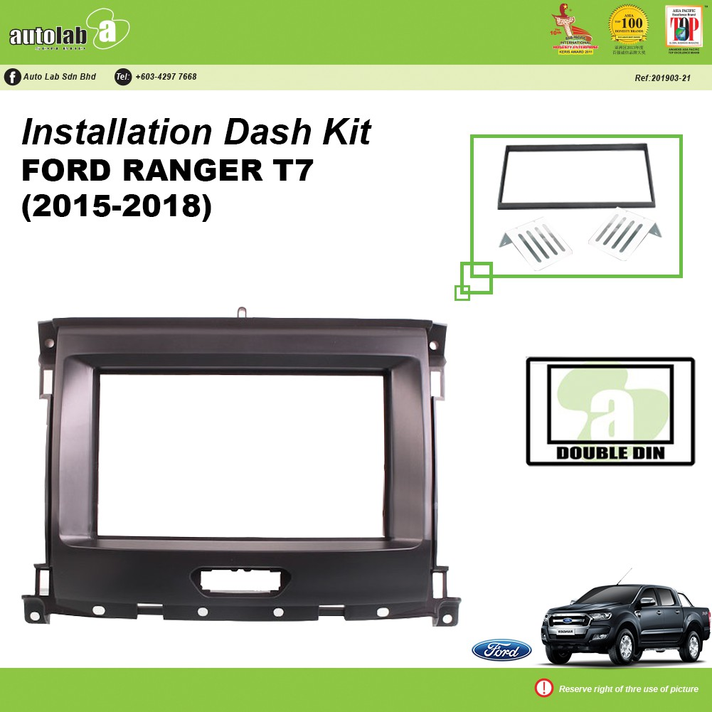 Player Casing Double Din Ford Ranger T7 (2015-2018)