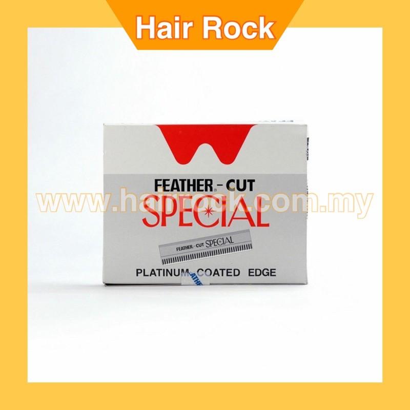 Japan Feather Cut Special Platinum Coated Edge Razor Blades (100 Blades)
