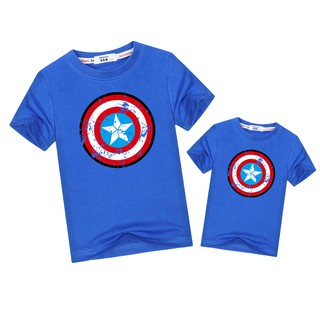 Captain America family matching outfits dad son t-shirt kids