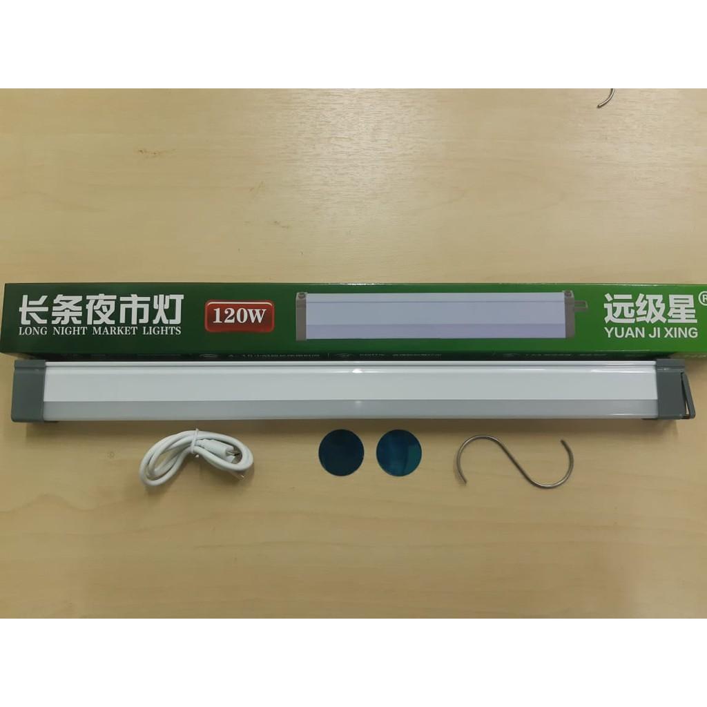 120W 200W LED Magnet Lithium battery light USB Rechargeable portable lampU pasar malam lampu bateri mentol lampu