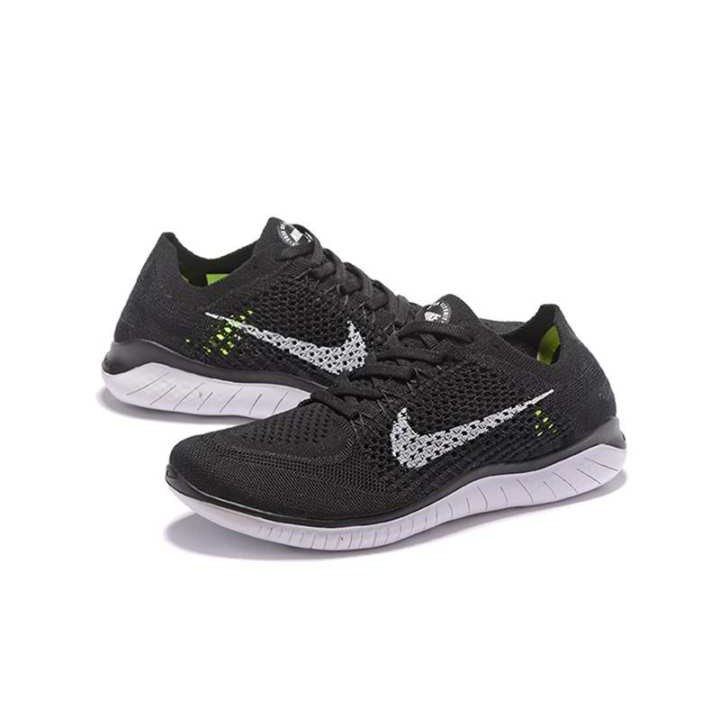 nike free flyknit 5.0 black and white