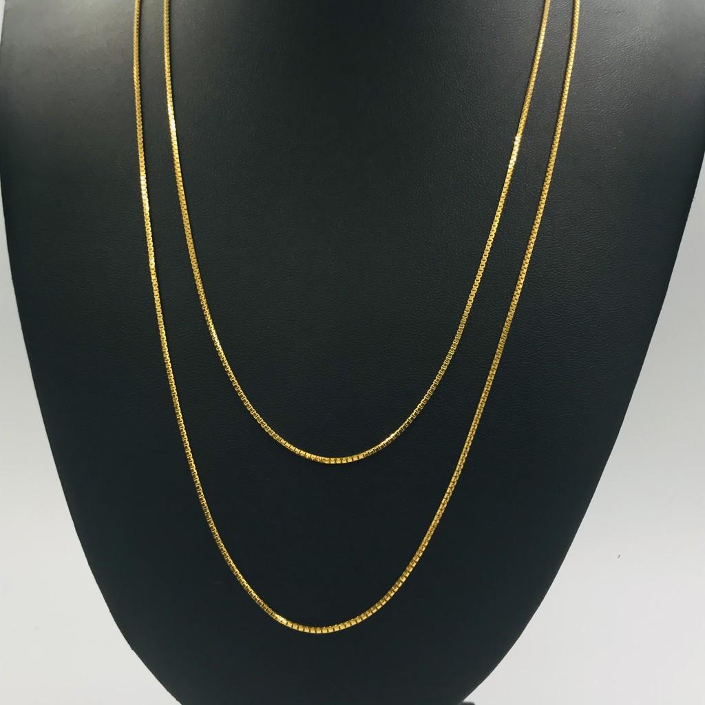 Rantai Leher Italia/Italia Necklace (Emas 916)