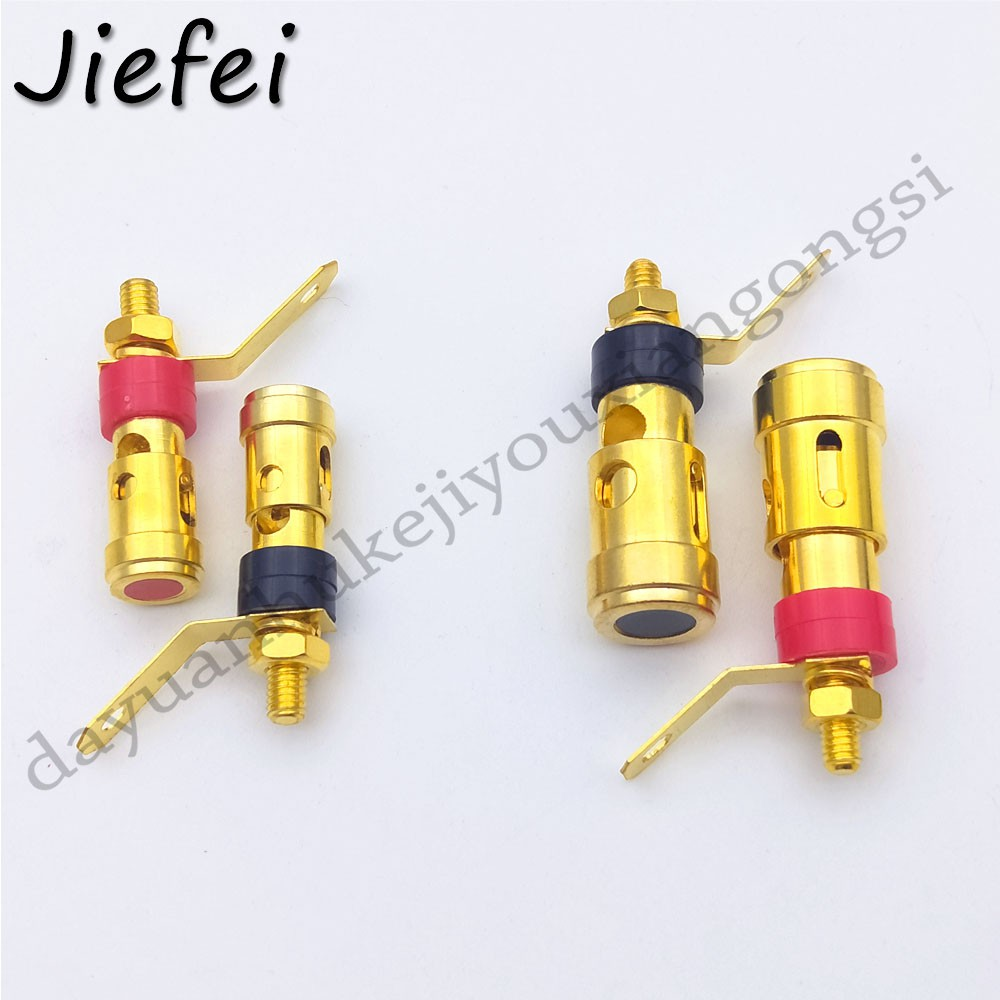 100pcs gold-plated 2mm//4mm terminal Binding Post Speaker Terminal Spring Cable