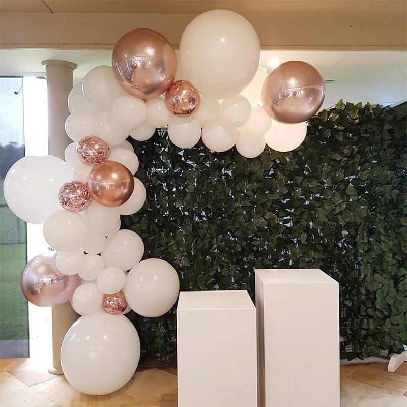 Rose Gold Balloon Garland Arch wedding bride engaged baby birthday party DIY hen