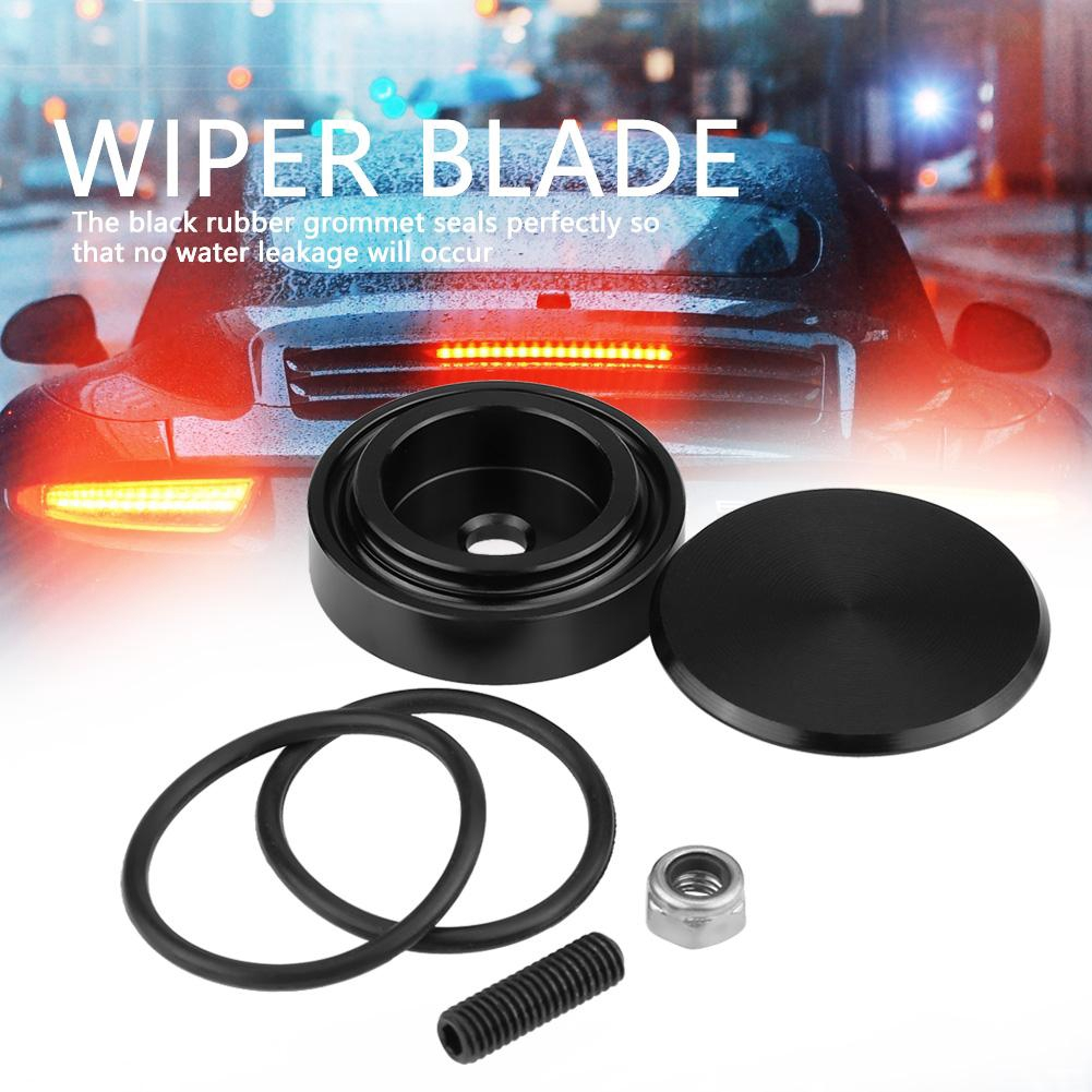 Aramox Wiper Cover Kit Blue Vehicle Rear Wiper Delete Plug Cover Kit Accessory Fit for Honda