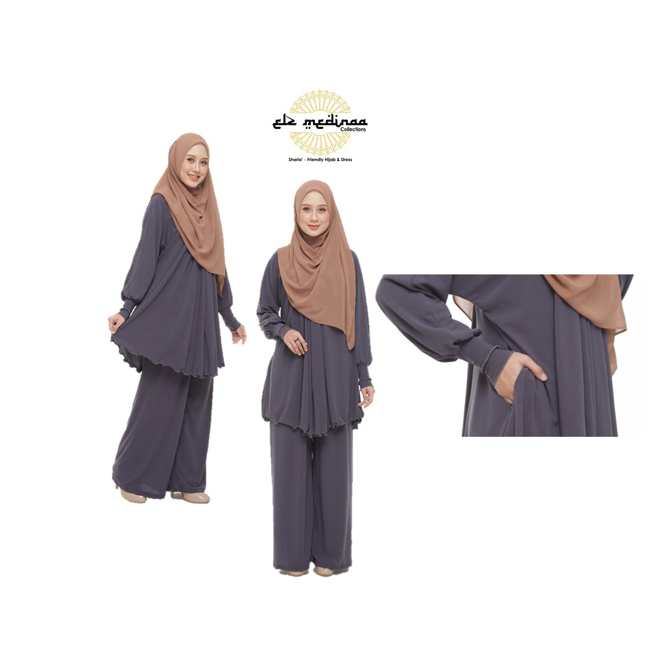 Set Blouse + Palazzo Muslimah Eryna Medinaa (Ironless)