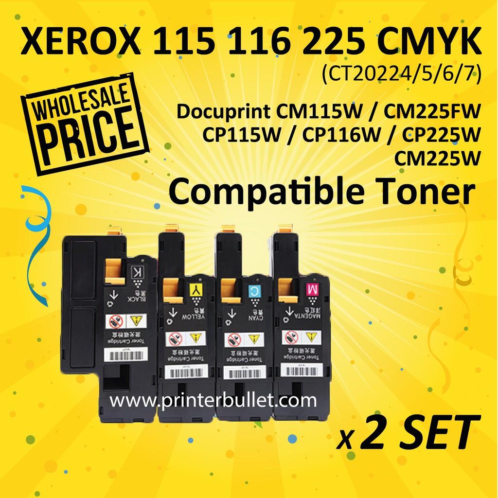 2 set CMYK Compatible Fuji Xerox CP115/116/225 Toner Cartridge (CT202264)