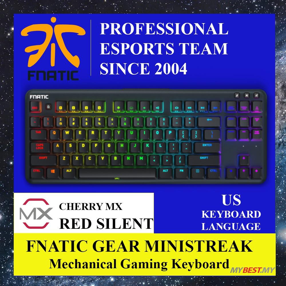 Fnatic Gear MINISTREAK TKL Gaming Keyboard - (Cherry Red Silent / Cherry  Blue)