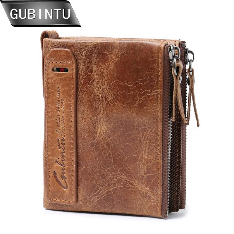 Handmade Crazy Horse Leather Pocket Men/'s Wallet Purse Card Cash Holder Customs