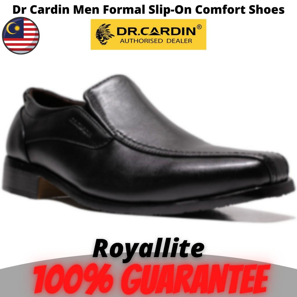 Dr Cardin Men Formal Slip-On Micro Suede Comfort Shoes (6301A) Black