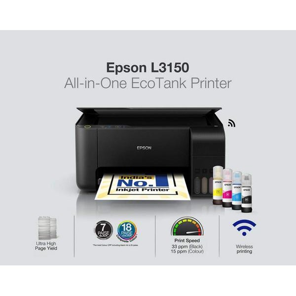 EPSON L3150 PRINT SCAN COPY WIFI ALL IN ONE (Original ink)