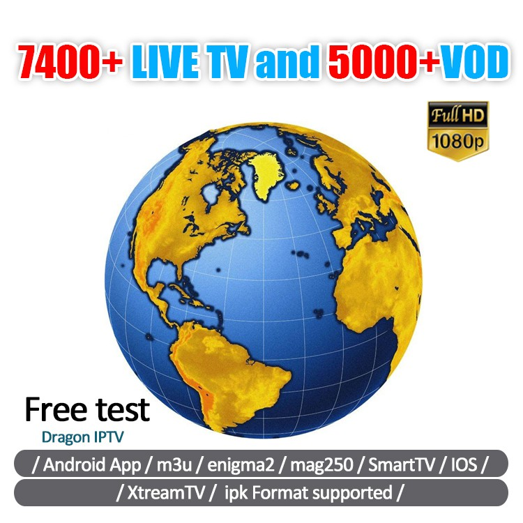 IPTV Smarters Subscription International TV Channels 7400+ Live TV 4900+VOD