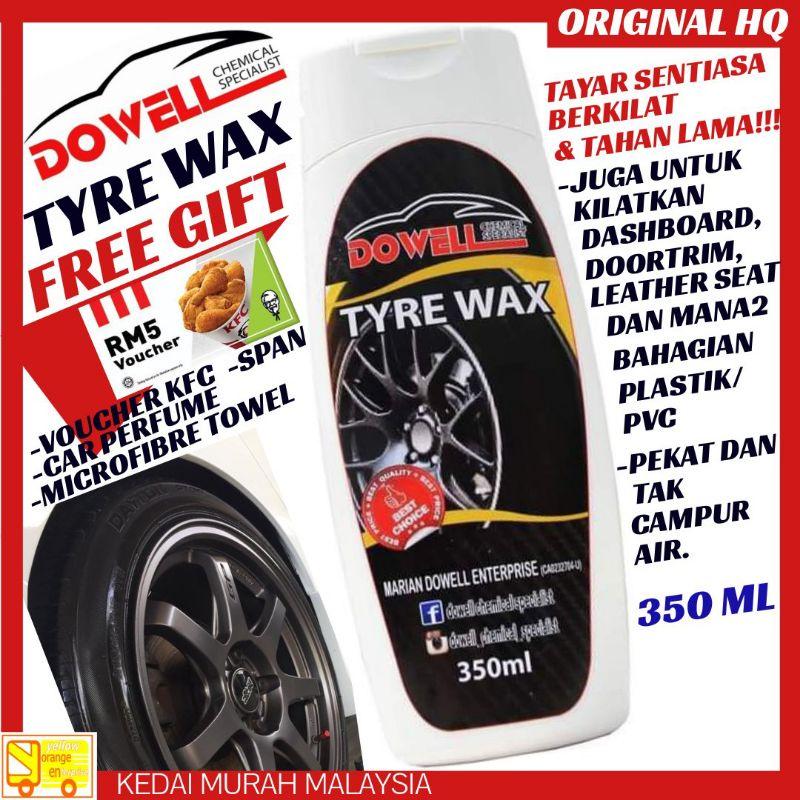 [ Promosi ] Original HQ DOWELL Tyre Wax (350ML) High Grade Tahan Lama Pekat