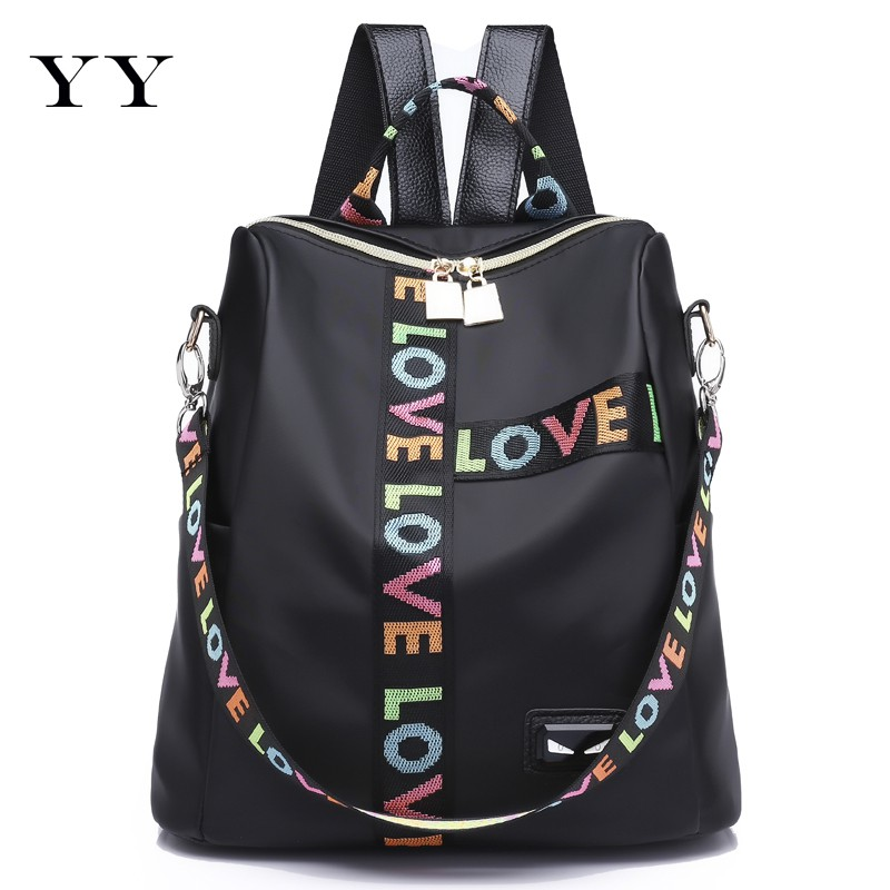 Backpack Korean version of the fashion casual wild backpack nylon canvas bag  simple student Oxford cloth tide  98f4b1e2c5adb