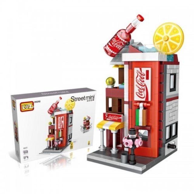 LOZ 1622 MINI Blocks DIY Kids Building Toys Adult Puzzle Stree Cola Store