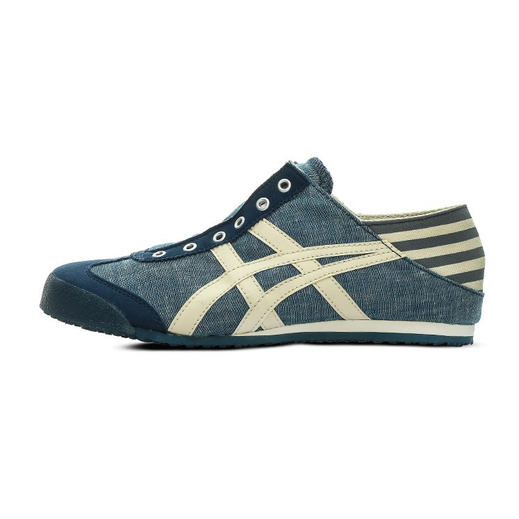 new concept a3bee 64b72 asics Onitsuka Tiger 鬼塚虎 MEXICO 66 navy cool blue slip-on spot shoes size  36-44