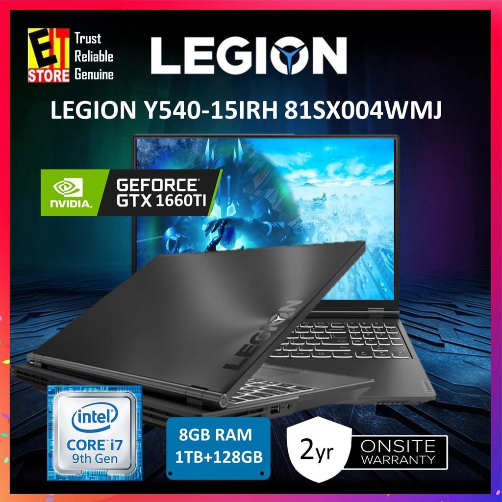 """LENOVO LEGION Y540-15IRH 81SX004WMJ BLACK (I7-9750H/8GB/1TB+128GB  SSD/GTX1660 Ti 6G/15 6"""" FHD/W10/2YRS+1ST YR ADP)"""
