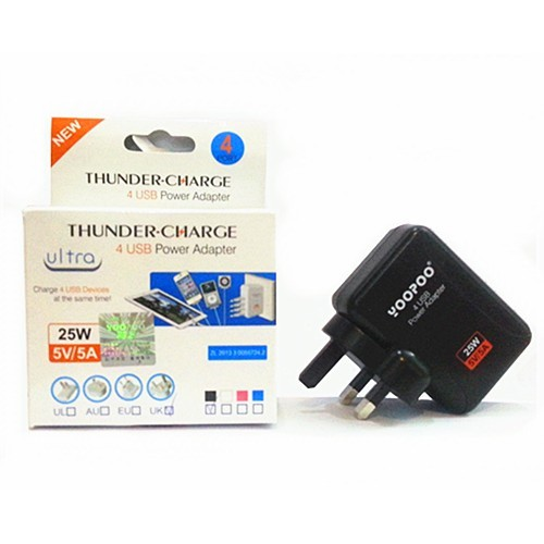 YOOPOO 4 Port USB Power Adapter Charger