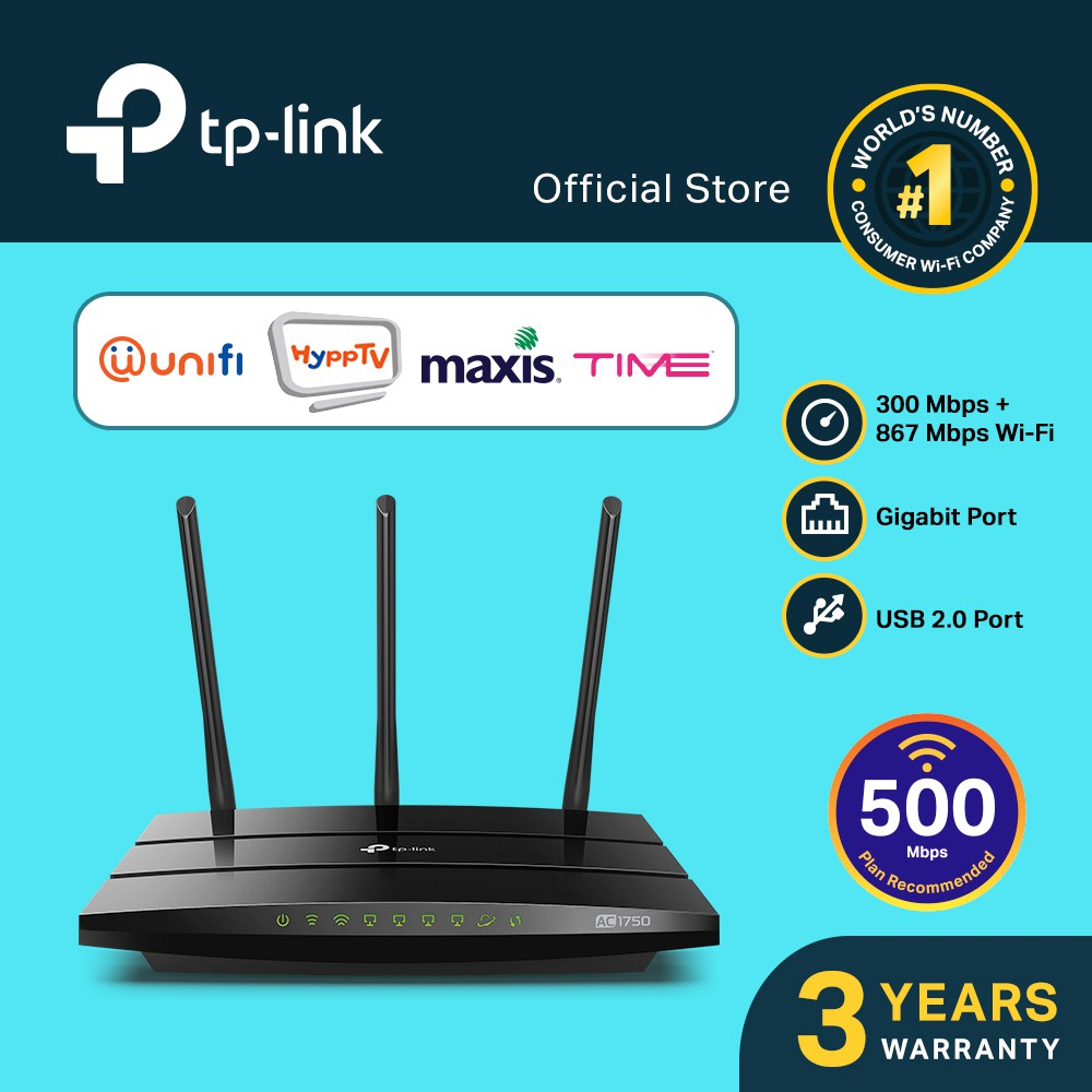 TP-Link Archer C7 AC1750 Dual Band Wireless Gigabit Router ( UP TO 500MBPS )